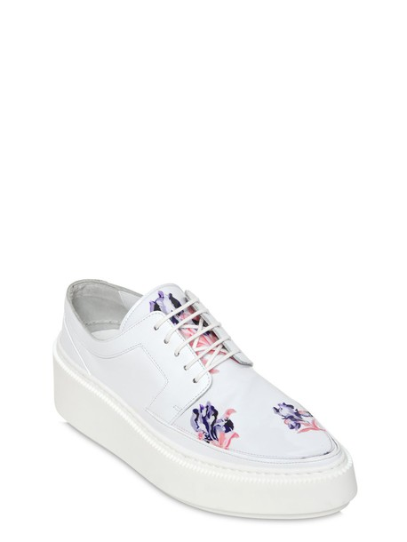 Kenzo sneakers leather white pink shoes
