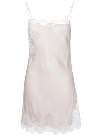 dress night dress short women lace nude silk