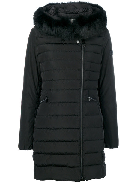 Peuterey coat fur fox women black