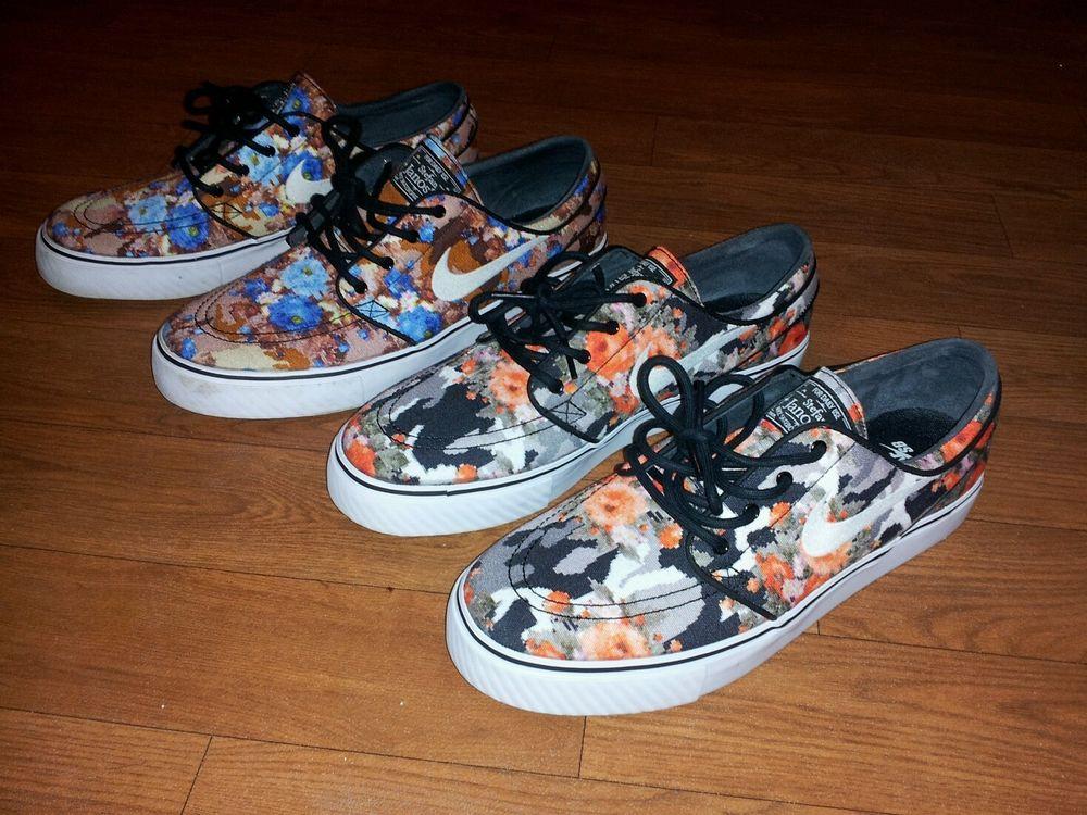 Nike SB Zoom Stefan Janoski Digi Floral Blue Floral and Orange Floral Pack | eBay