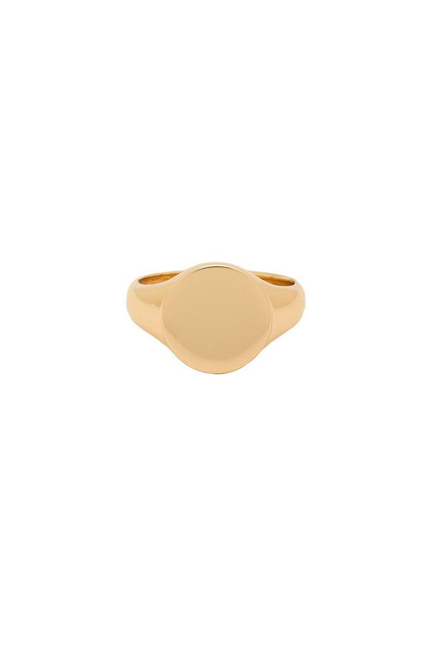 Melanie Auld Signet Ring in gold / metallic