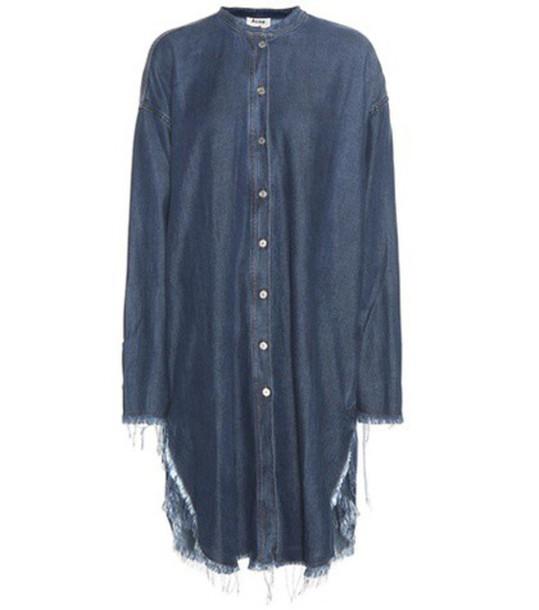 Acne Studios Grace Denim Dress in blue