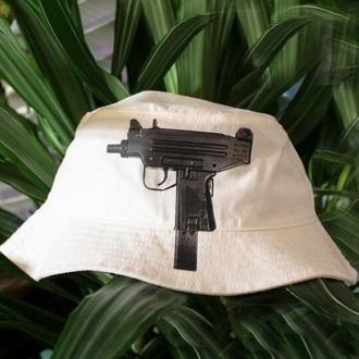 hat bucket hat dope gun