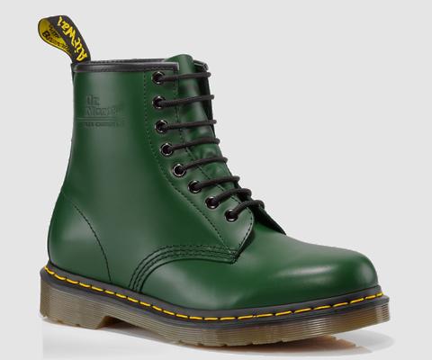 dr martens 1460 green smooth doc martens boots and shoes. Black Bedroom Furniture Sets. Home Design Ideas