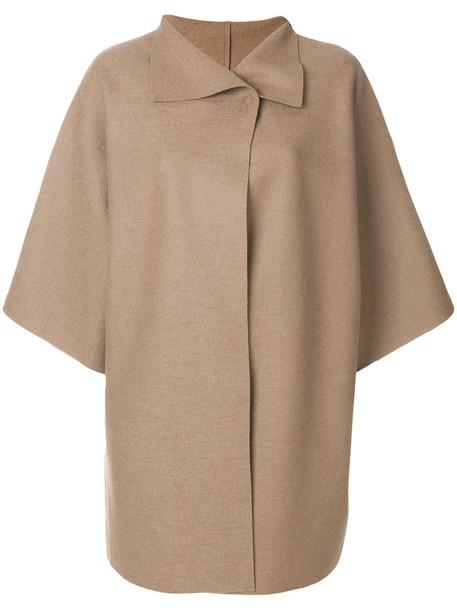HARRIS WHARF LONDON coat oversized women wool brown