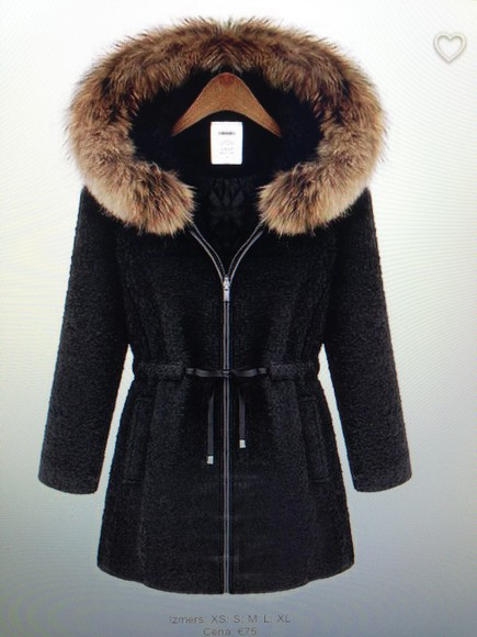 jacket clothes fashion fur coat winter outfits warm wool black style