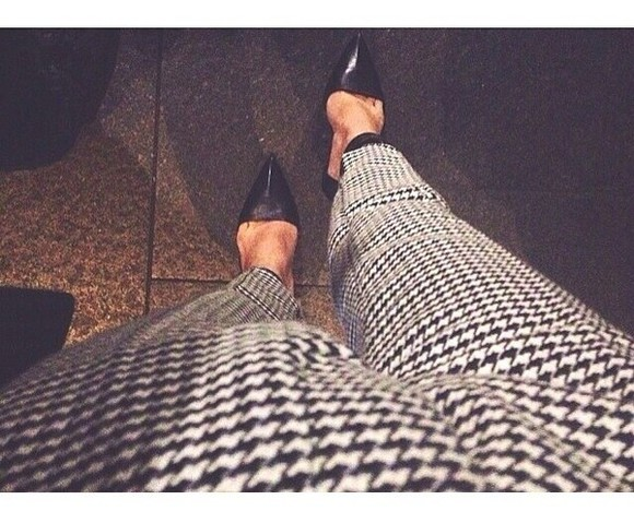 love jeans fashion black white checkered pattern pants black and white black and white pants checkered pants fall fall outfits
