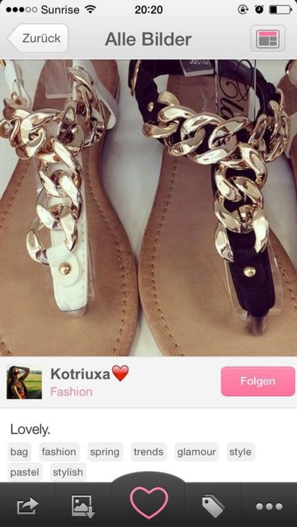 61a4444ea308 Liliana Gold Chain T-Strap Black Aurora Sandals   Cicihot Sandals ...