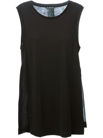 tank top top slit black