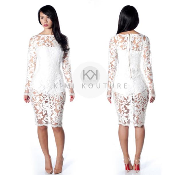 nye dress see through dress club dress white dress pigalle 120 pigalle red bottoms zipper back zip knee length dress holiday dress holiday season gold zipper