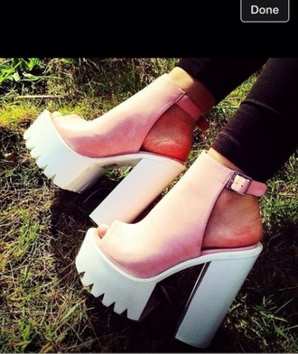 shoes high heels sandals pink shoes white shoes