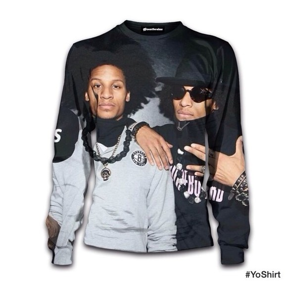 crewneck swag sweater black