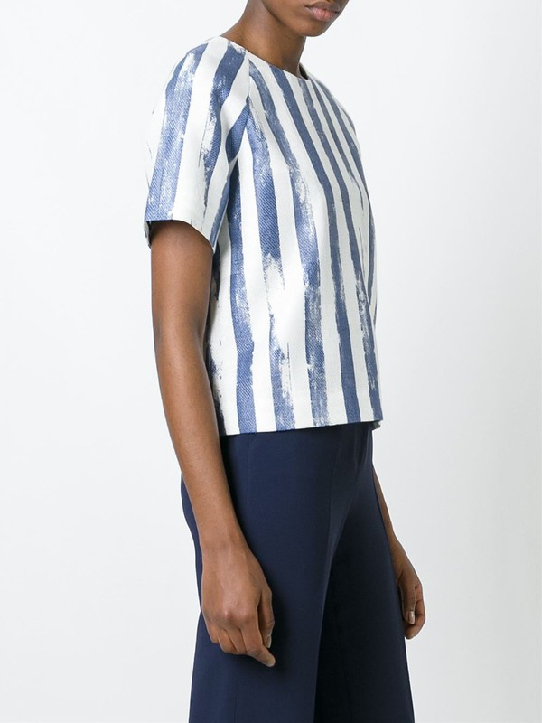 t-shirt blue and white stripes striped t-shirt