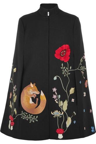 cape embellished black top