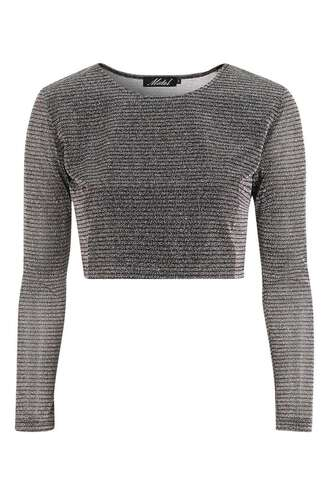 top metallic crop tops