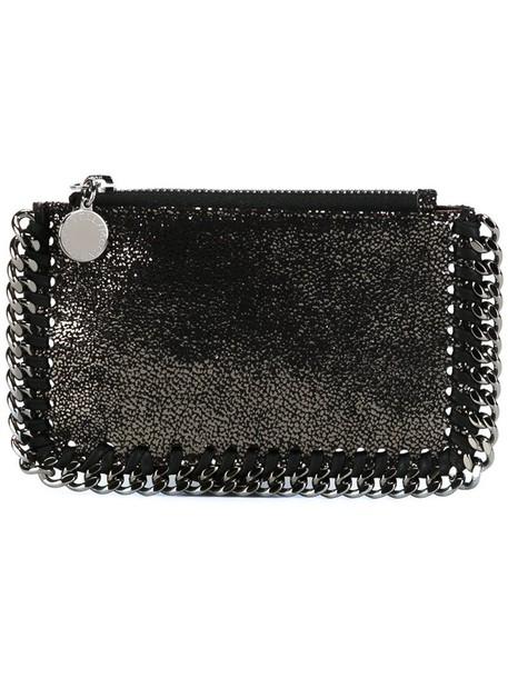 Stella McCartney metal women pouch grey metallic bag