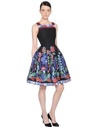 dress jacquard floral black