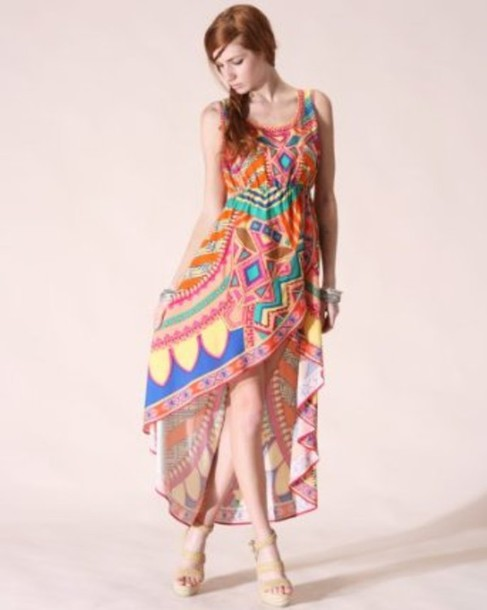 dress tribal pattern etzec maxi