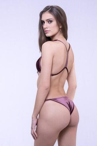 swimwear bikini bottoms cheeky dbrie swim purple velvet bikiniluxe