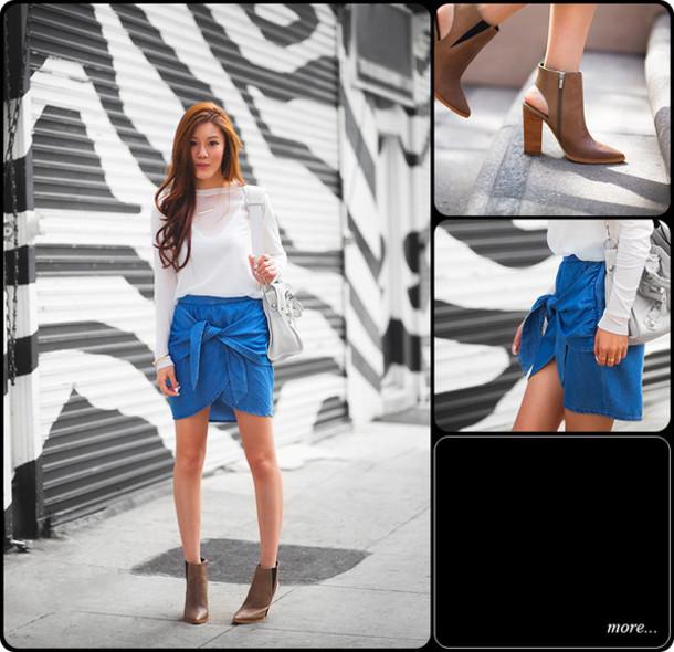 tsangtastic t-shirt skirt jewels shoes bag