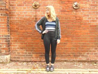 the velvet black grunge blogger jacket top jeans
