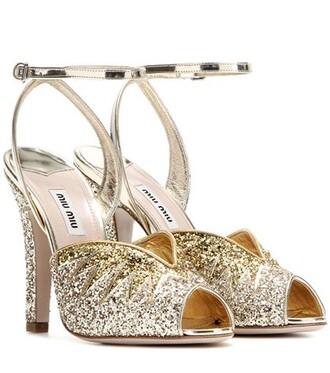 glitter sandals metallic shoes