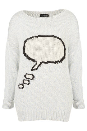 Topshop - Knitted Speech Bubble Sweater customer reviews - product reviews - read top consumer ratings