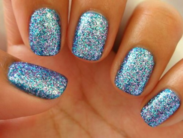 Pink And Blue Glitter Nail Polish Jewels Nail Polish Glitter