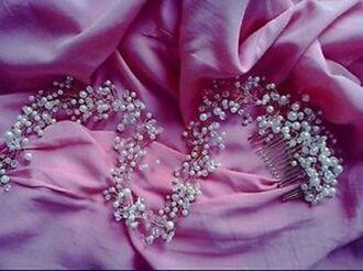 hair accessory pearl diamonds