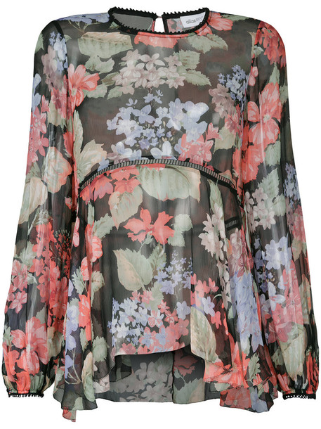 Alice McCall blouse women black silk top
