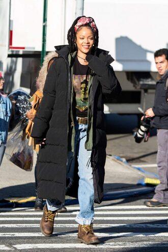 jacket jeans boyfriend jeans rihanna streetstyle box braids