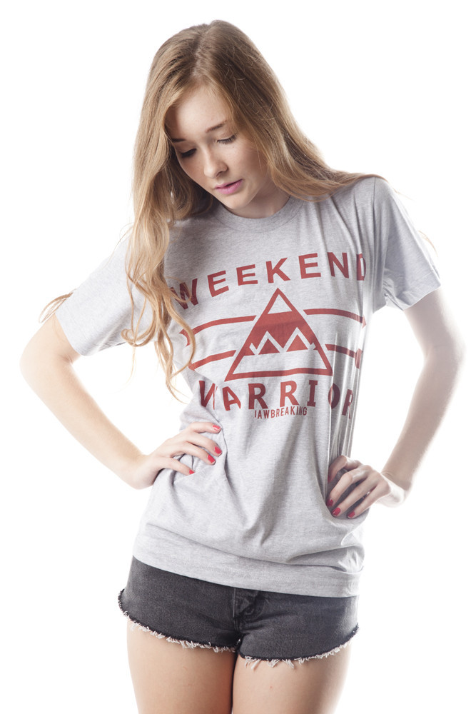 Weekend Warrior T-Shirt - Red/Gray – Jawbreaking