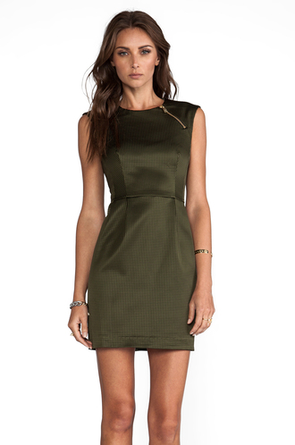 dress dress runway woven martian olive green runway woven martian nanette lepore