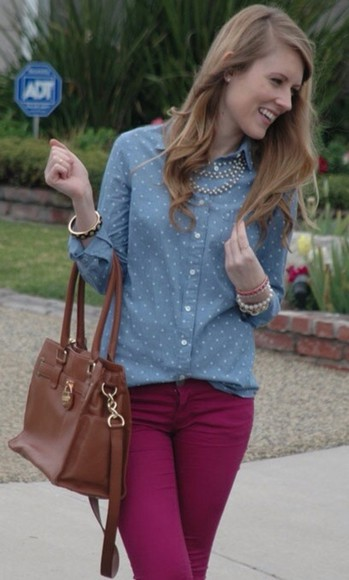 blouse polka dots shirt