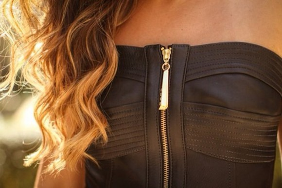 black tank top top black top zipper beautiful top beautiful black top gold zipper