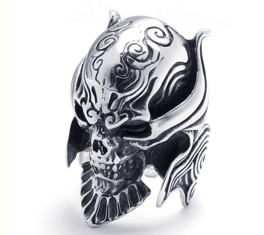 Men Titanium Steel Punk Skull Ring - Wishbop.com