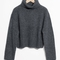 & other stories | mohair and wool blend turtleneck sweater | grey dark