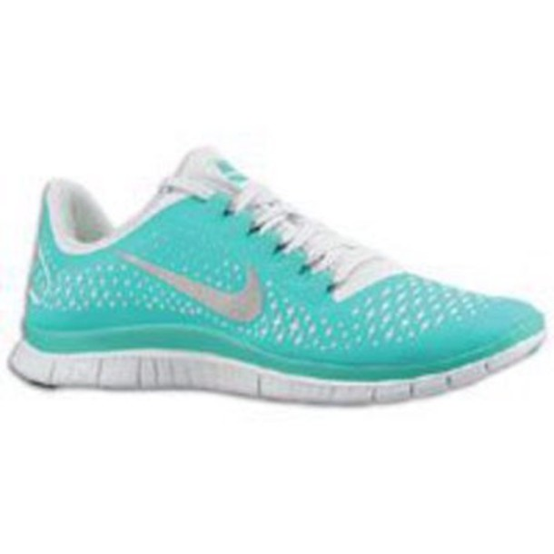 shoes nike 5.0 aqua and white