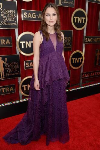 dress purple dress purple keira knightley gown sag awards