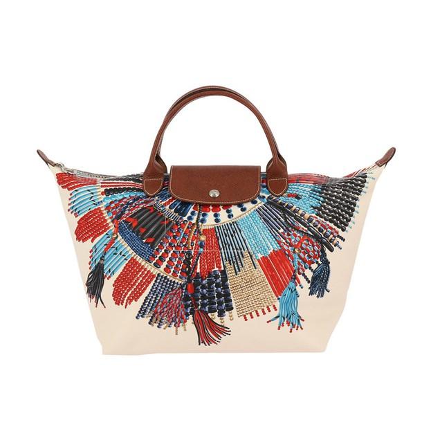 Longchamp women bag handbag shoulder bag multicolor