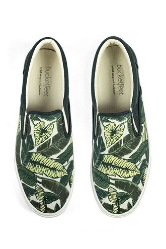 shoes tropical mens shoes mens slip ons green shoes palm tree print
