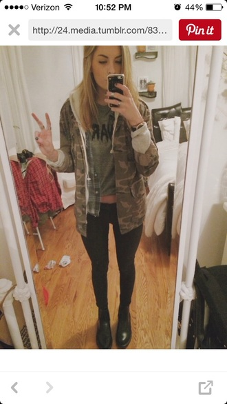 jacket camo jacket hoodie army green jacket flannel shirt