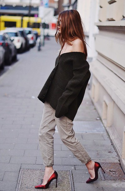 maja wyh blogger cardigan pants shoes oversized cardigan
