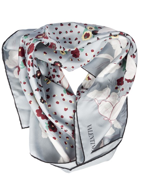 Valentino butterfly scarf blue