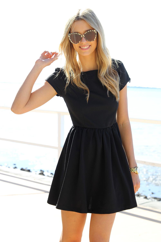 SABO SKIRT  Black Heart Back Dress - Black - 48.0000
