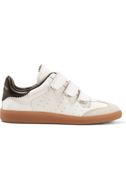 Isabel Marant sneakers leather white suede shoes