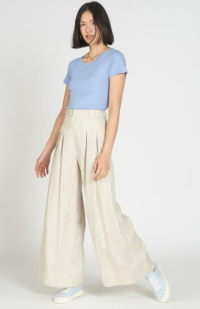 Fold Trousers - Beige