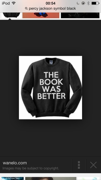 sweater black book harry potter divergent percy jackson