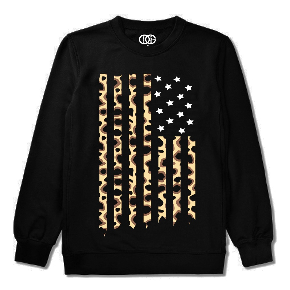 The Cheetah Flag Crewneck (Black) - Orijinal Goods Co.