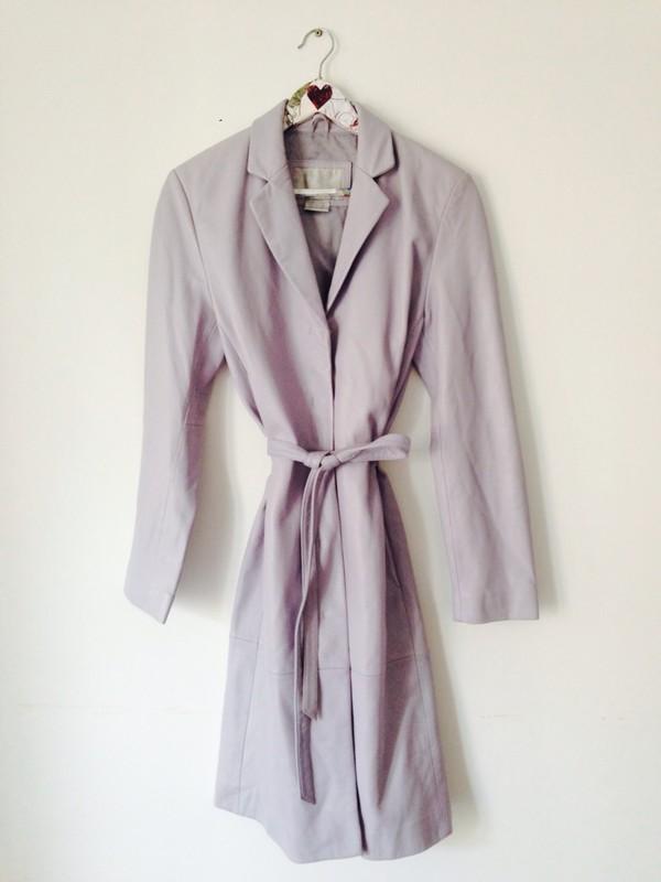 coat dusky purple real leather coat beyonce
